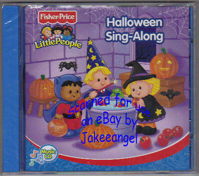 Fisher Price Little People Halloween Sing Along Music CD New Sealed Spooktacular - Halloween Sing Along Cd