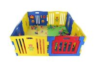 MCC Plastic Baby Playpen 8 Sides with Activity Panel - in excellent condition