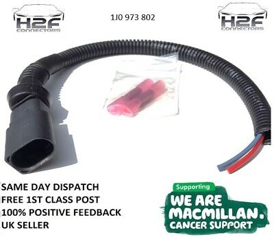VW Golf  Mk5 Brake Pad Wear Connector Male Pre-wired with 30cm of Cable FREEPOST