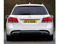 EFZ 626 – Price Includes DVLA Fees - Cherished Personal Private Registration Number Plate