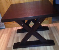 Contemporary Manor Style Solid Wood Side Table Espresso Brown