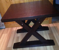 Contemporary Manor Style Solid Wood Side Table in an Espresso