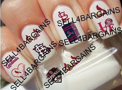 MLB ST. LOUIS CARDINALS BASEBALL LOGOS》10 Different Designs》Nail Art Decals (Cardinal Tattoo Designs)