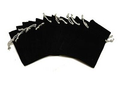 Lot Of 12 Black Velvet Jewelry Gift Bags