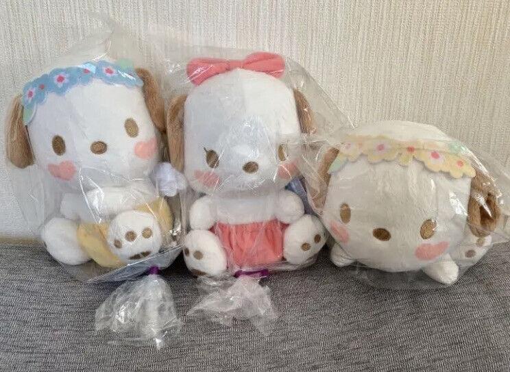 Sanrio Pochacco baby flower plush toy 3 types set FuRyu prize 16 cm
