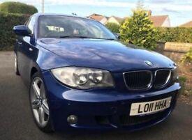 BMW 118D M SPORT 2011 BLUE 11 Months MOT Full BMW Service * £30 TAX/yr* SATNAV 50K £5500