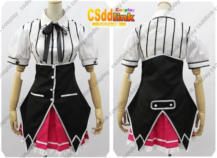 Rias Gremory from High School DxD Cosplay Costume Uniform short sleeved