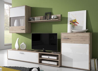 Living Room Furniture Set Tv Stand Cabinet Unit Shelf Entertainment Section