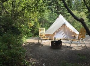 Free Fully Furnished Canvas Bell Tents