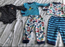 C 12-18 months with Dino pjs