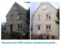Render, patio, decking, stone, roof, gutter, building cleaning and restoration - pressure washing