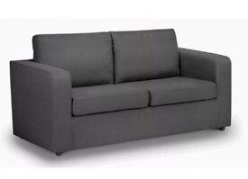 Brand New Maxi Metal Action Sofa Bed Grey Fabric
