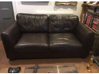 Large two-seater leather sofa - FREE! Collection only.