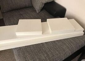 4 IKEA wall shelves white