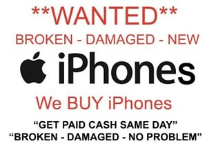 Wanted- Broken screen iPhones