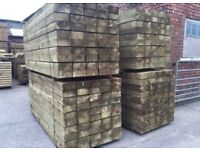 🌷New Pressure Treated Railway Sleepers • 190 x 90 x 2.4m