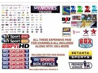 Skybox Openbox F3 F5 F5s V5 V8s - 12 month gift subscription all channels