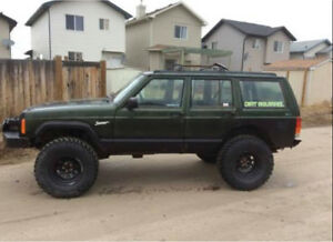 97 Jeep Cherokee sport 6 inch suspension lift ready to go