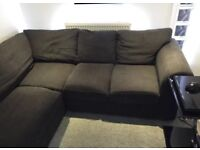 Charcoal corner sofa in very good condition