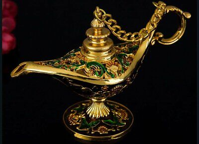 Aladin Magic Lamp Home Decoration Collectible Easter Genie Lamp Souvenir Golden](Genie Lamp)