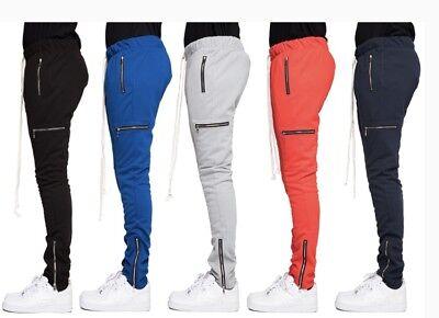 EPTM Men's Techno Side Zipper Long Drawstring Cargo Pants  (Drawstring Cargo)