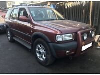 VAUXHALL FRONTERA, 2.2 16v,PETROL, (X REG) 2000, BREAKING FOR SPARES,