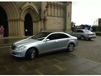 Wedding car hire Leeds, West Yorkshire. Mercedes & Bentley