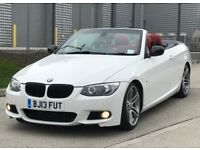 2013 BMW 3 Series 3,0 litre diesel automatic FSH convertible 1 owner