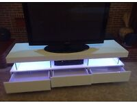 Large Sleek High Gloss TV Unit. Brand New Boxed