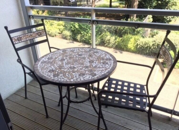 Captivating Metal Garden Bistro Set   Mosaic Table U0026 Chairs