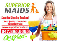 Move in and move out cleaning by Superior Maids! low prices
