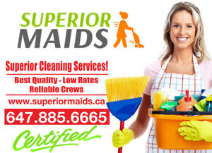 Cleaning lady from Superior Maids, best cleaning service in town