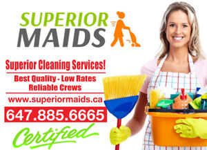 FREE CLEANING ESTIMATE, CALL SUPERIOR MAIDS