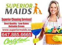 Superior maids cleaning service in Mississauga, Brampton,GTA