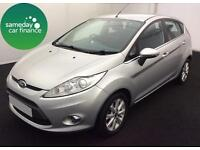 £123.22 PER MONTH SILVER 2009 FORD FIESTA 1.2 ZETEC 5 DOOR PETROL MANUAL