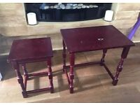 TWO SMALL LAMP PHONE TABLES FREE DELIVERY IN LIVERPOOL