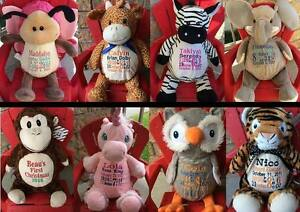 Personalized Embroidered Stuffed Animals