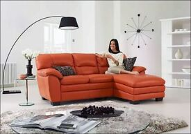 Real Leather Brand New Sofa for £399