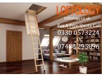 MAXIMIZE YOUR VALUABLE AND UNDERUSED LOFT SPACE - LOFT LADDERS SUPPLIED & FITTED FOR JUST £175