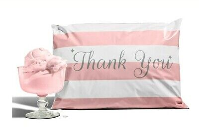 20-pack Reusable Bubble Gum Pink Thank You Poly Mailers 10x13 Envelopes Mailer