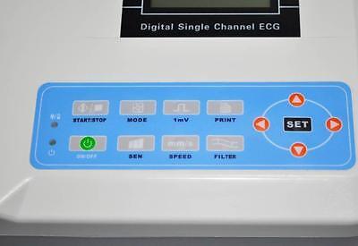 NEW ECG MACHINE 100G SINGLE CHANNEL 12 LEAD EKG ELECTROCARDIOGRAPH,PRINTER,CE/FDA