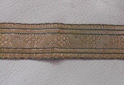 3mt. Antike Borte Bordüre Spitze Gold aus Frankreich 3,0cm. Breit