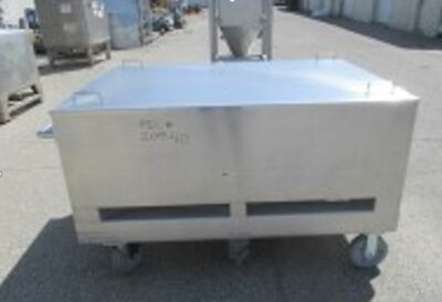 Bg Bin 30 Cu.ft. Stainless Steel Tote Tank Mobile Portable On Wheels On Casters