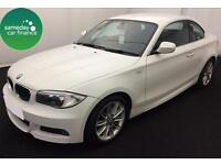 £225.22 PER MONTH WHITE 2012 BMW 120D 2.0 M SPORT COUPE DIESEL MANUAL