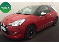 £186.97 PER MONTH RED 2013 CITROEN DS3 1.6 AIRDREAM DSPORT PLUS DIESEL MANUAL