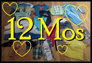 LARGE BAG of Fall Winter Clothing Lot --- BOYS 12 Months --- $20