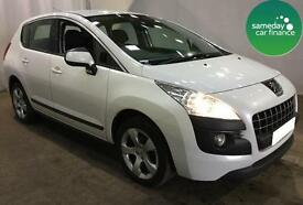 £172.01 PER MONTH WHITE 2013 PEUGEOT 3008 1.6 HDi ACTIVE 5 DOOR DIESEL MANUAL