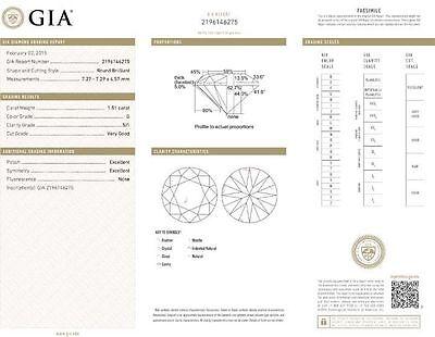 3 ct Round Diamond Studs 18k White Gold Martini Style Earrings GIA G SI1 Ideal 3