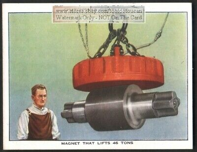 Electro Magnet With Lifting 26 Tons Capacity  c80 Y/O Trade Ad Card