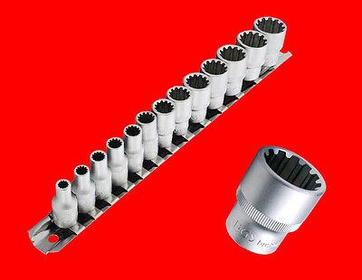 "13 tlg. 1/4"" Spezial Stecknuss Werkzeug Set 4mm - 14mm Metrisch Zoll Torx B2150"